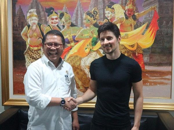 Rudiantara and Pavel Durov